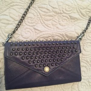 Navy and silver Rebecca minkoff purse